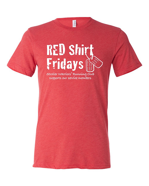 Red Triblend Bella & Canvas - Unisex Triblend Short Sleeve Tee
