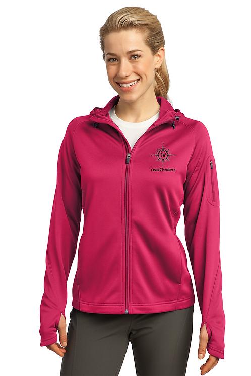 Pink Raspberry Sport-Tek® Ladies Tech Fleece Full-Zip Hooded Jacket