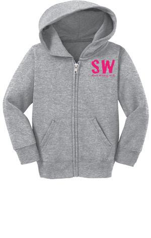 Port & Company® Toddler Full-Zip Hooded Sweatshirt