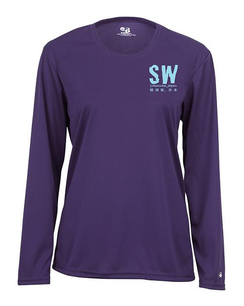 Purple Badger - B-Core Women's Long Sleeve T-Shirt