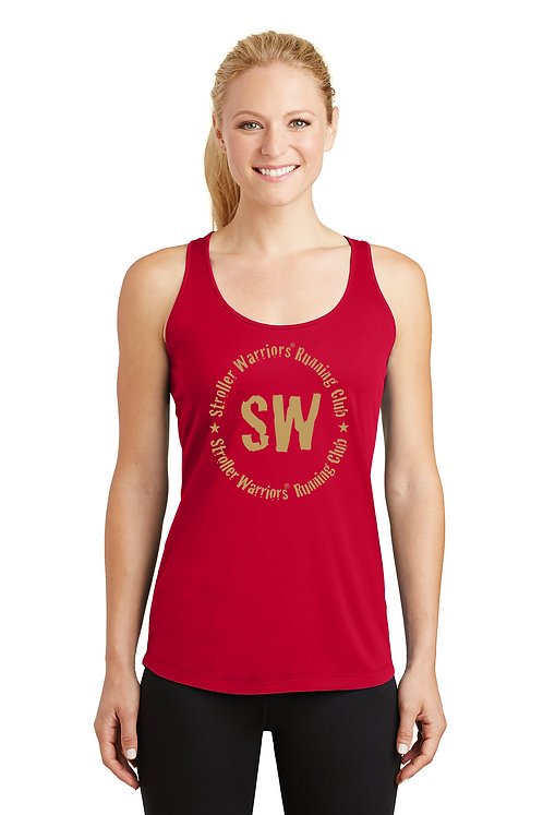 True red Sport-Tek® Ladies PosiCharge® Competitor™ Racerback