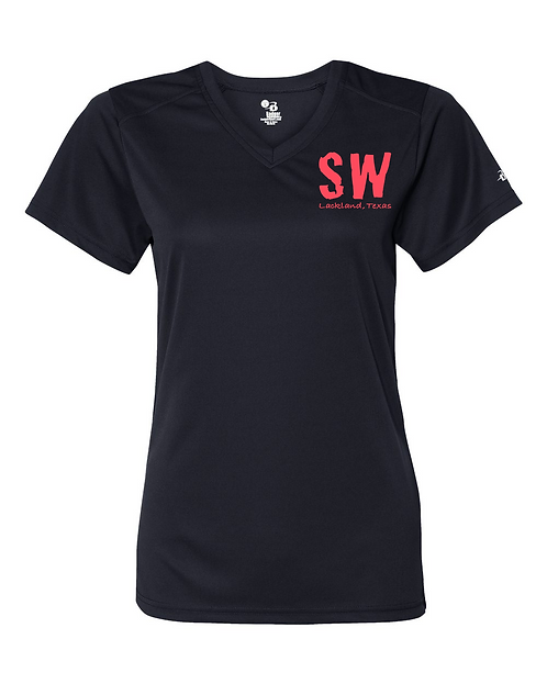 Navy blue Badger - B-Core Women's V-Neck Tee