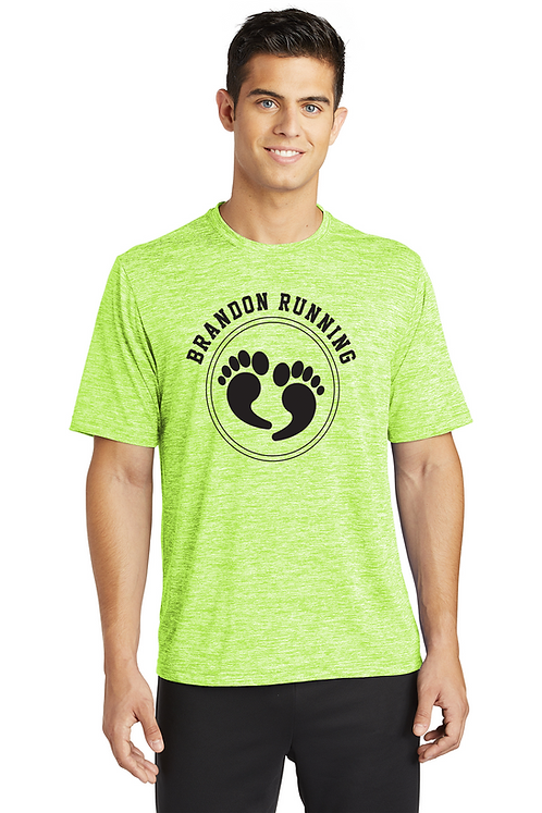 Lime electric Sport-Tek® PosiCharge® Electric Heather Tee