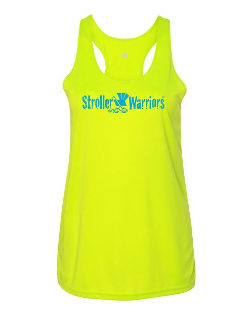Safety Yellow Badger B-Core Women's Racerback Tank Top