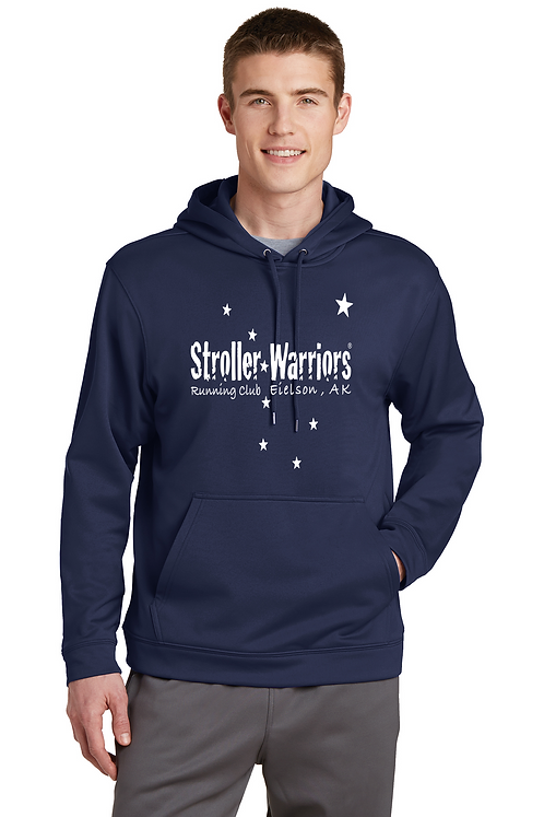 Navy Blue Sport-Tek® Sport-Wick® Fleece Hooded Pullover