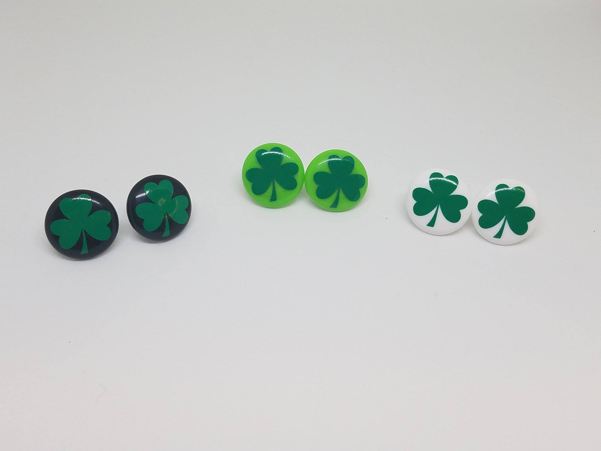Shamrock, St Patrick Day Earrings