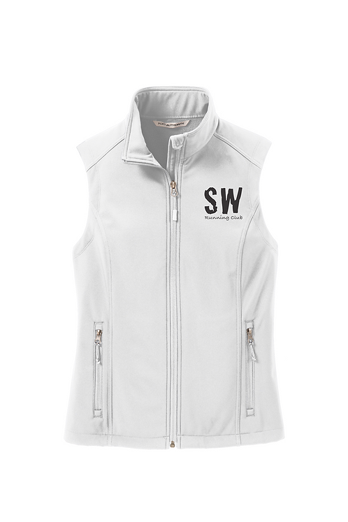 Marshmallow Port Authority Ladies Soft Shell Vest