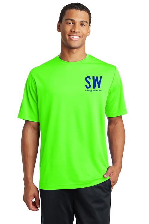 Neon green Sport-Tek® PosiCharge® RacerMesh® Tee.