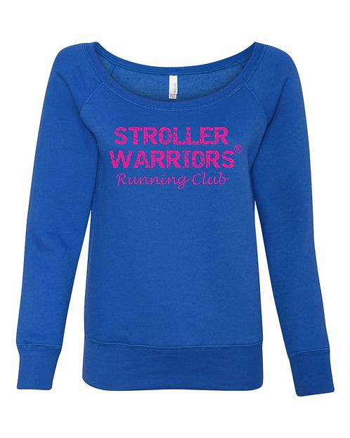 Royal Bella Women's Sponge Fleece Wide Neck Sweatshirt