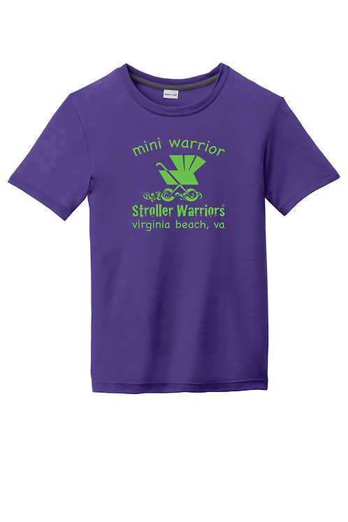 Purple Sport-Tek® Youth PosiCharge® Competitor™ Cotton Touch™ Tee
