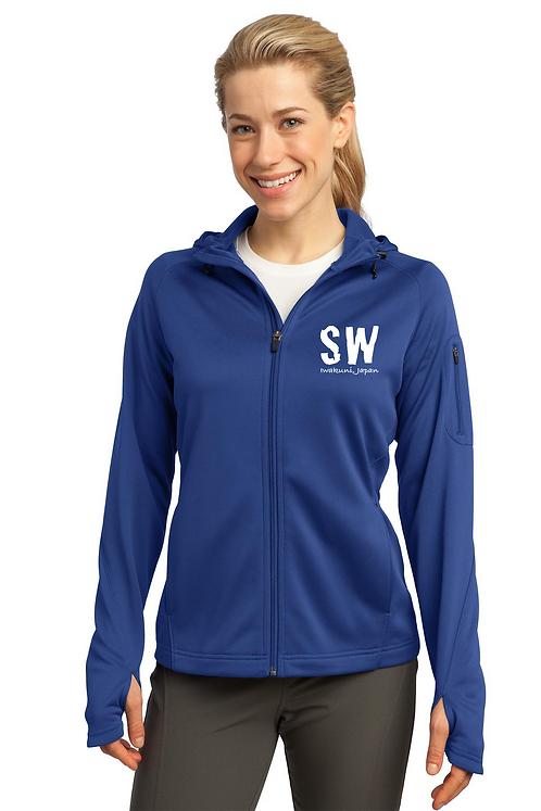 True Royal Sport-Tek® Ladies Tech Fleece Full-Zip Hooded Jacket