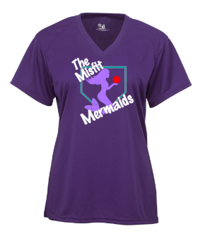 Purple Badger - B-Core Women's V-Neck Tee