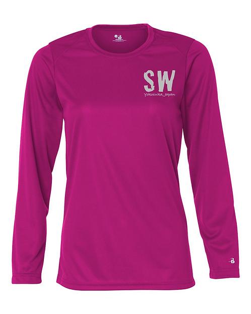 Hot pink Badger - B-Core Women's Long Sleeve T-Shirt