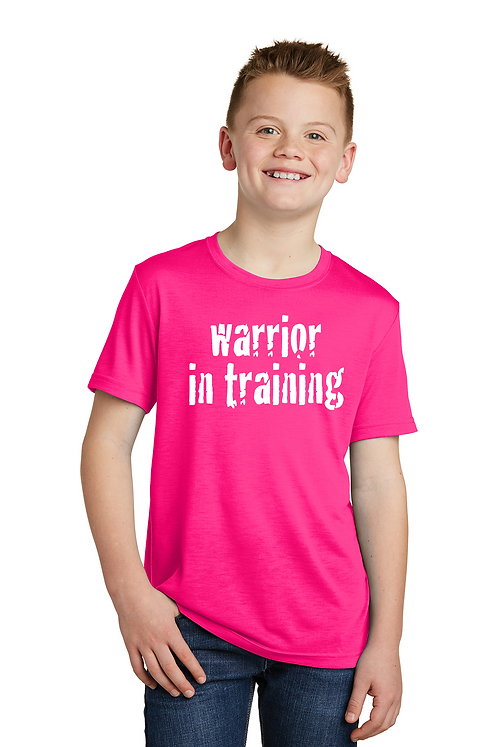 Neon pink Sport-Tek® Youth PosiCharge® Competitor™ Cotton Touch™ Tee