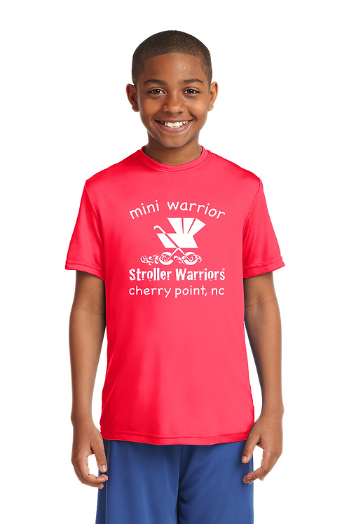 Hot Coral Sport-Tek Youth PosiCharge Competitor™ Tee