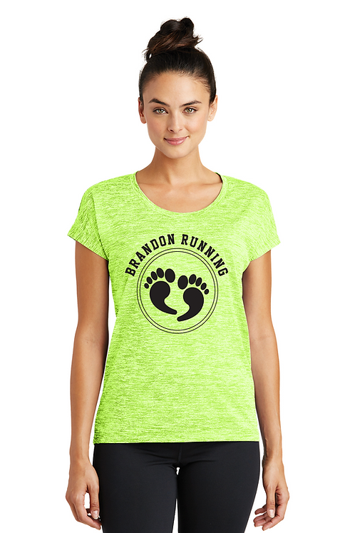 Lime electric Heather Sport-Tek® Ladies PosiCharge® Electric Heather S