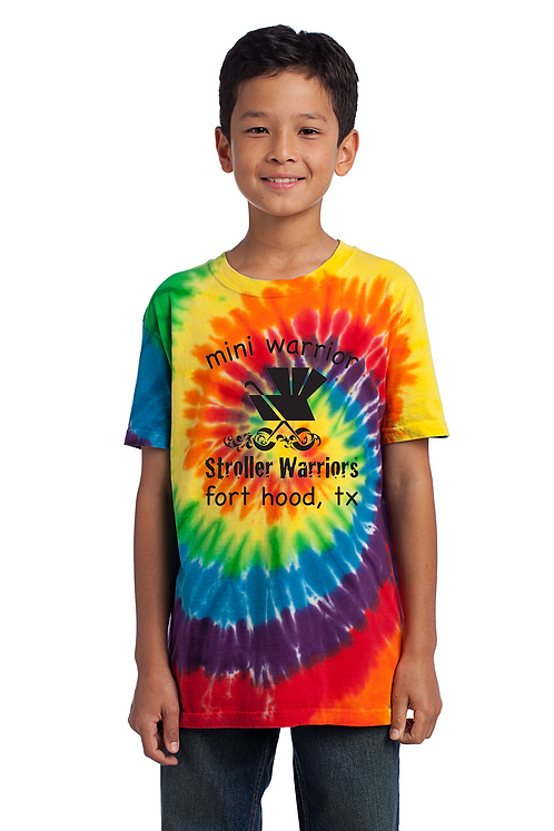 Rainbow Port &Company Youth Tie-Dye Tee