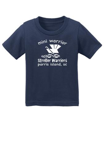 Navy blue Port & Company® Infant Core Cotton Tee