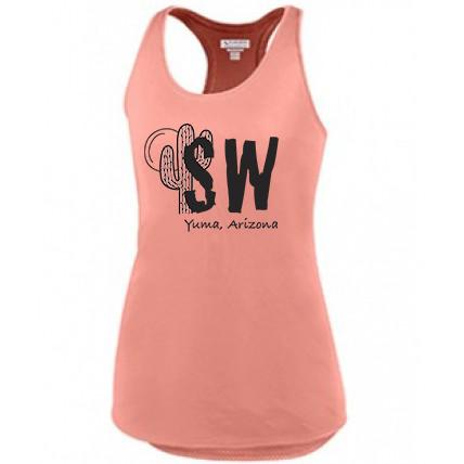 Coral  Augusta Sportswear - Women's Sojourner Tank