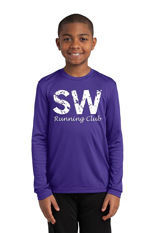 Purple  Sport-Tek Youth Long Sleeve PosiCharge Competitor™ Tee