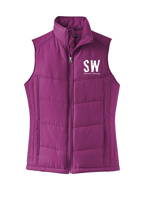 Bright Berry Port Authority® Ladies Puffy Vest