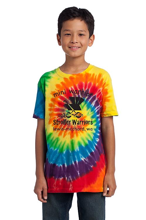 Rainbow Port & Company Youth Tie-Dye Tee
