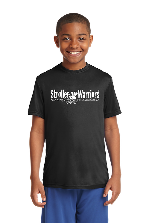 Black Sport-Tek® Youth PosiCharge® Competitor™ Tee