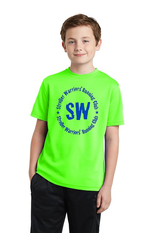 Neon green Sport-Tek® Youth PosiCharge® RacerMesh® Tee