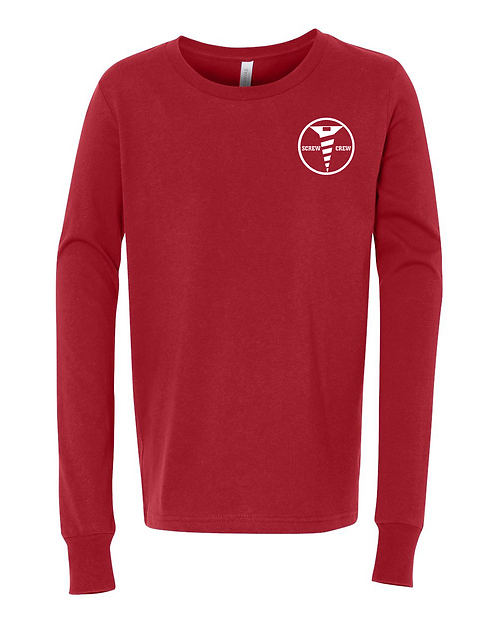 Red Bella + Canvas - Youth Unisex Jersey Long Sleeve Tee