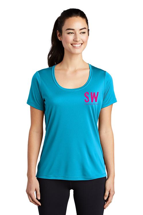 Sapphire  Sport-Tek ® Ladies Posi-UV™ Pro Scoop Neck Tee