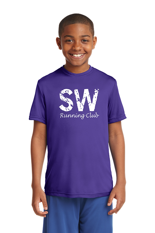 Purple Sport-Tek Youth PosiCharge Competitor™ Tee