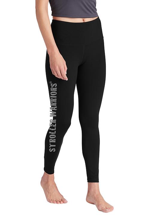 Black Sport-Tek ® Ladies High Rise 7/8 Legging