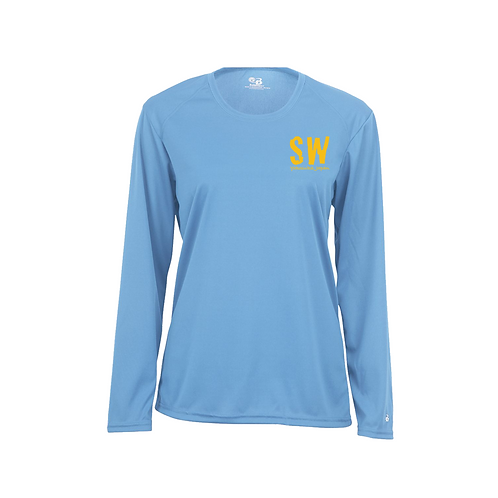 Columbia blue Badger - B-Core Women's Long Sleeve T-Shirt