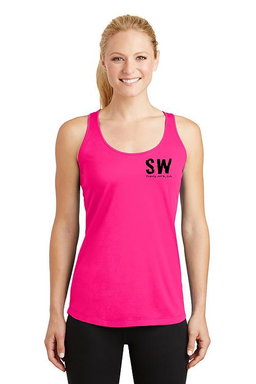 Neon pink Sport Tek Ladies PosiCharge Competitor Racerbank Tank