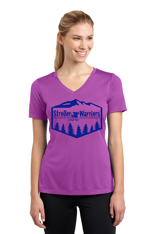 Pink orchid Ladies Sport Tek Tech PosiCharge Competitor Tee