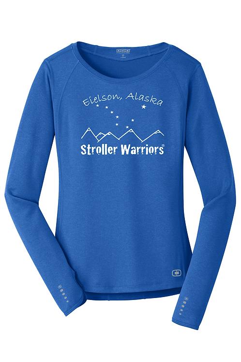 Electric Blue OGIO® ENDURANCE Ladies Long Sleeve Pulse Crew