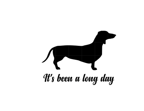 It's been a Long Day Dachshund Decal