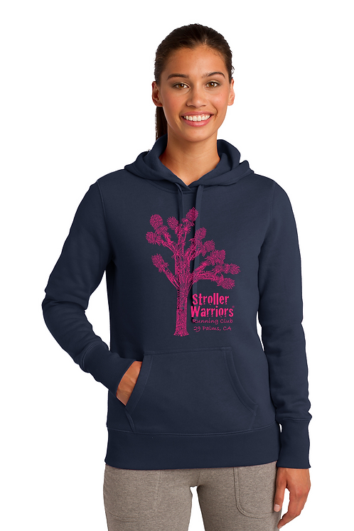 Navy Sport-Tek® Ladies Pullover Hooded Sweatshirt
