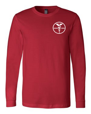 Red Bella + Canvas - Long Sleeve Jersey Tee