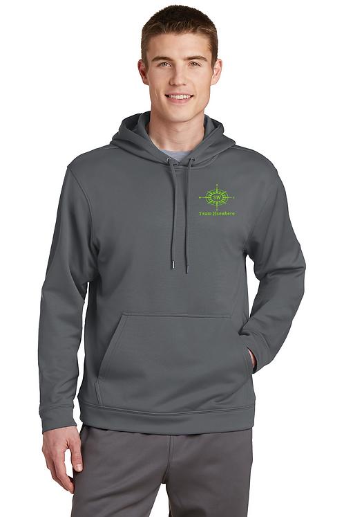 Grey Sport-Tek® Sport-Wick® Fleece Hooded Pullover