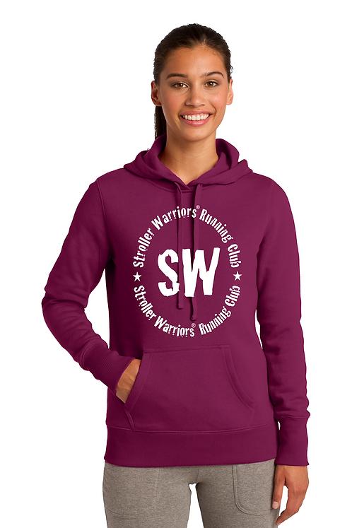 Pink Rush Sport-Tek® Ladies Pullover Hooded Sweatshirt