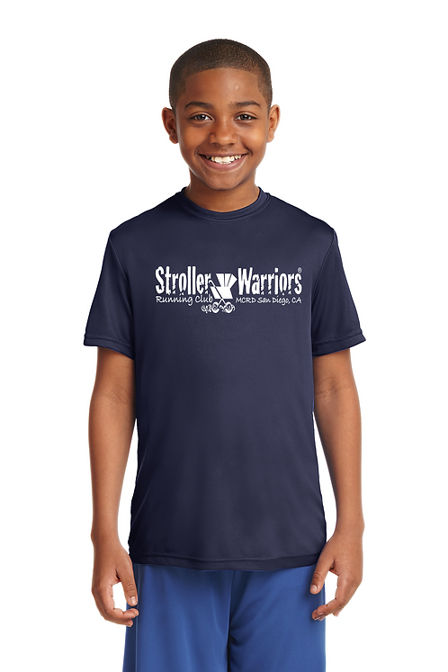 Navy Sport-Tek® Youth PosiCharge® Competitor™ Tee