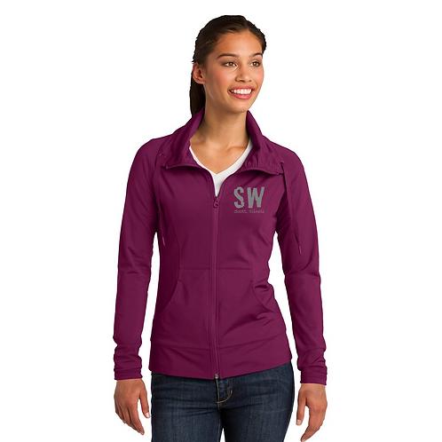 Pink Rush Sport-Tek Ladies Sport-Wick Stretch Full-Zip Jacket