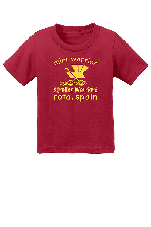 Red  Port & Company® Infant Core Cotton Tee
