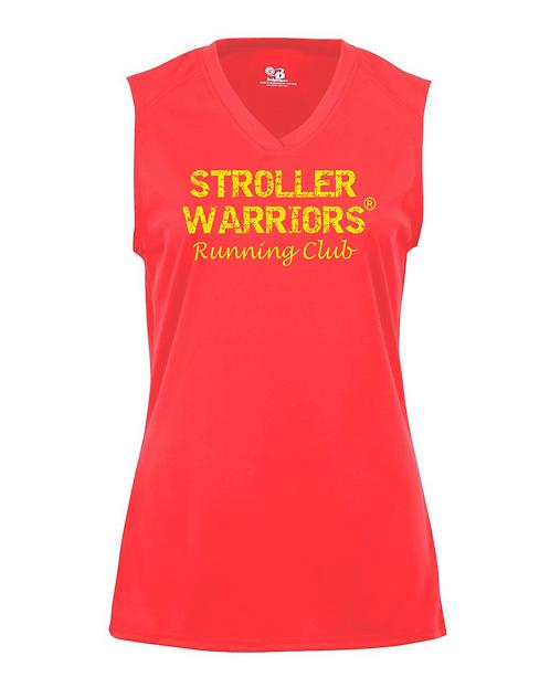 Hot Coral Badger B-Core Women's Sleeveless Tank