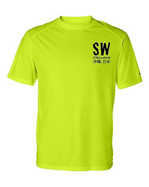 Safety yellow Badger - B-Core Sport Shoulders T-Shirt