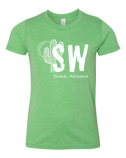 Green triblend Bella + Canvas - Youth Short Sleeve Crewneck Jersey Tee