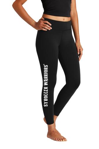 Black Sport-Tek® Ladies 7/8 Legging