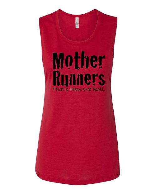 Red Bella + Canvas  Women's Flowy Muscle Tank