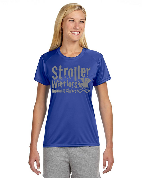 Royal Blue A4 Ladies' Short-Sleeve Cooling Performance Crew